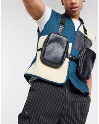 ASOS Chest Harness Bag - Black