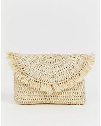 ASOS - Straw Clutch Bag - Lyst