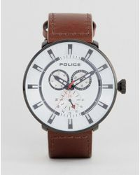 Police - Mens League Watch In Brown - Lyst