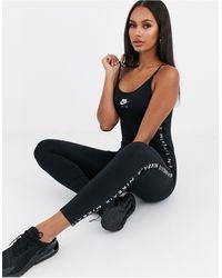 Nike – Air – Jumpsuit-Einteiler - Schwarz