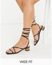 Raid Wide Fit Bonnie Heeled Sandals - Black