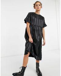 Lola May Long Smock Dress - Black