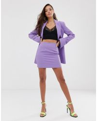 ASOS Mini Suit Skirt In Lilac Pop - Purple