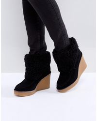UGG - Coldin Cuff Wedge Boots - Lyst