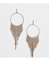 ALDO Rhinestone Chandelier Hoop Earrings - Metallic