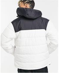 Karlkani OG - Doudoune à capuche effet color block - Blanc