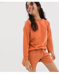 ASOS Tuta con felpa oversize e pantaloncini - Neutro
