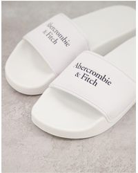 Abercrombie & Fitch Sliders - White