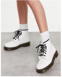 Dr. Martens - Белые Ботинки С 6 Парами Люверсов Dr. Martens 101-белый - Lyst