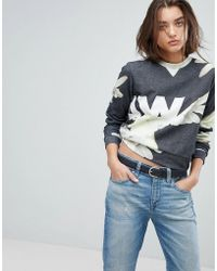 G-Star RAW | Cropped All Over Print Sweatshirt | Lyst