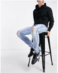 Dr. Denim Snap Skinny Fit Jeans - Blue