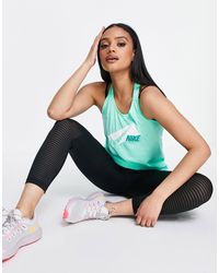 Nike Graphic Dry Elastika Tank - Green