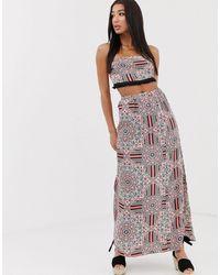 Missguided Co-ord Maxi Skirt - Multicolour