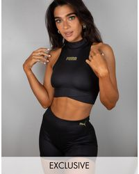 PUMA Training X Stef Fit High Neck Crop Vest - Black