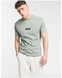Jameson Carter Matt Leather Patch T-shirt - Green
