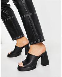 New Look 90s Platform Mule Sandal - Black