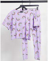 ASOS Pijama lila - Morado