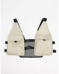 ASOS Harness Bag With Stone With Mesh Detail - Multicolour