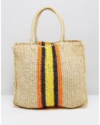 Warehouse - Slouchy Straw Tote Bag - Lyst