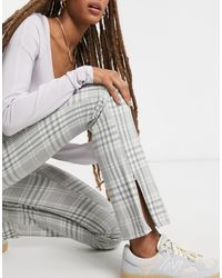 Weekday Alecia Tailored Trousers - Grey