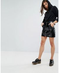 Tripp Nyc - High Shine Pu Mini Skirt - Lyst