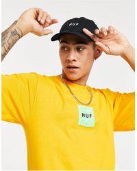 Huf - Camiseta dorada con logo cuadrado UFO - Lyst