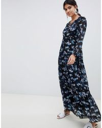Suncoo - Floral Printed Maxi Dress - Lyst