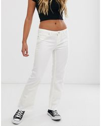 Pieces Flared Jeans - Wit