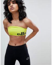 Ellesse - Bralet With Wraparound Contrast Logo - Lyst
