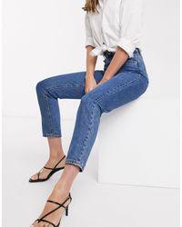 Vero Moda Mom Jeans With High Waist - Blue