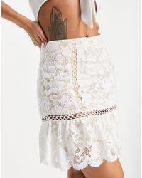 Love Triangle Minifalda color marfil con vuelo - Blanco