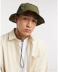 ASOS – Khaki Safari-Hut aus Nylon mit Minitasche - Mehrfarbig