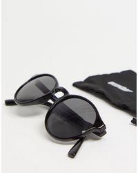 Weekday Черные Солнцезащитные Очки Spy-черный Цвет