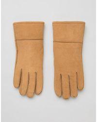 Barneys Originals - Real Sheep Skin Lined Gloves - Lyst