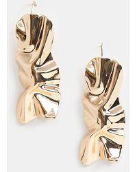 Glamorous - Molten Gold Earrings - Lyst