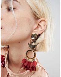 ASOS - Statement Petal And Shape Drop Earrings - Lyst
