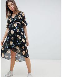 New Look Floral Print Midi Dress - Multicolor