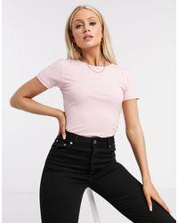 Missguided Cap Sleeve Bodysuit - Pink