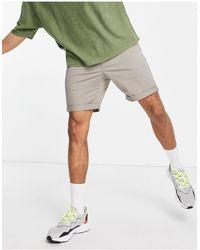 New Look Серые Шорты Чиносы -серый - Многоцветный