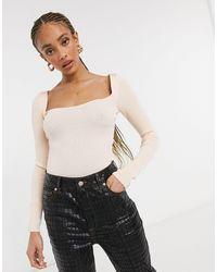 TOPSHOP Knitted Crop Top - Multicolor
