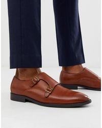 ASOS – Monk-Schuhe aus hellbraunem Kunstleder