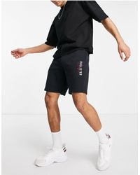 Hollister Modern Tech Logo Sweat Shorts - Black
