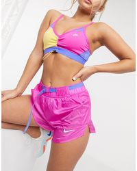 Nike Pantaloncini con cintura rosa