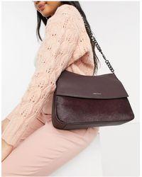 Karen Millen Regent Leather Shoulder Bag - Red