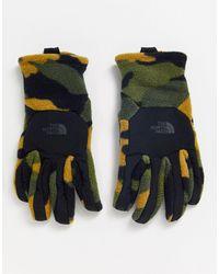 The North Face Denali - Guanti touchscreen mimetici kaki - Verde