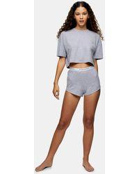 TOPSHOP Branded Boxy Pyjama Set - Grey
