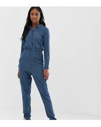 d6a7d9f7692 Noisy May Tall - Denim Boiler Suit - Lyst