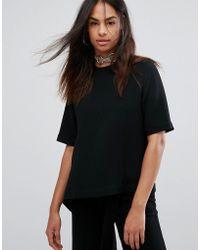 Back by Ann-Sofie Back - Flap Asymmetric T-shirt - Lyst
