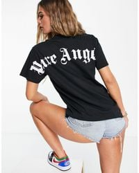 I Saw It First Oversized Tee With Back Print Slogan - Black