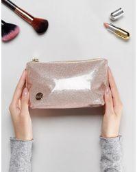 Mi-Pac - Champagne Glitter Make Up Bag - Lyst